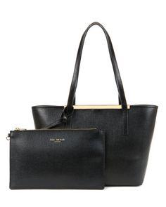 Small crosshatch shopper - Black | Bags | Ted Baker UK