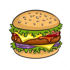Burger Sandwich Pop Art Vector Illustration – Food Objects Burger Sandwich Pop Art Vector Illustration – Food Objects,art Burger Sandwich Pop Art Vector Illustration – Food Objects Related posts:Healthy Chocolate Pudding - NO Avocado,. Sandwich Drawing, Burger Drawing, Food Drawing, Food Illustrations, Illustration Art, Burger Cartoon, Cartoon Clip, Pop Art Food, Burger Vector