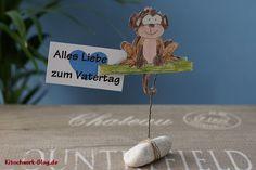Geschenkidee, Present, monkey, Affe, Kartenhalter, DIY, Gratis Anleitung, free tutorial