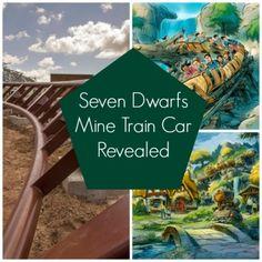 Seven Dwarfs Mine Train Car Revealed - Babble Disney Vacation Club, Disney World Trip, Disney Cruise Line, Disney Vacations, Disney Parks, Disney Hotels, Disney Time, Disney Disney, Disney Stuff