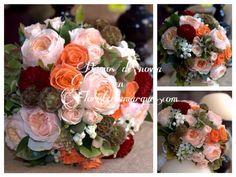 Ramo de novia romántico en unos suaves tonos pastel con inspiración otoñal de www.floristeriamarques.com