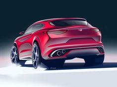 Alfa Romeo Stelvio Design Sketch