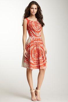 Erte Pleated Colorblock Skirt on HauteLook