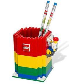 NEW SEALED Lego 850426 Desk Pencil Holder & 2 Pencils & Minifigure  #LEGO