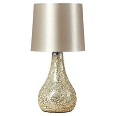 George Home Small Champagne Mosaic Table Lamp | Home & Garden | George at ASDA