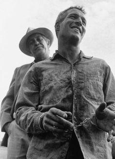 COOL HAND LUKE - Paul Newman & Strother Martin - Warner Bros. - Publicity Still.