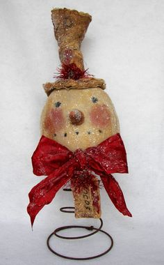 Items similar to The Primitive Nook Vintage Snowman Nodder pdf E-Pattern OFG FAA. Items similar to The Primitive Nook Vintage Snowman Nodder pdf E-Pattern OFG FAAP on Etsy Crafts Merry Christmas, Christmas Snowman, Winter Christmas, All Things Christmas, Christmas Holidays, Christmas Decorations, Christmas Ornaments, Snowman Tree, Table Decorations