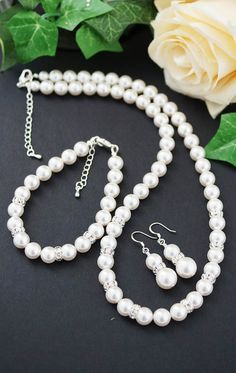 Swarovski Pearls Bridal Jewelry Set from EarringsNation Bridesmaid gifts