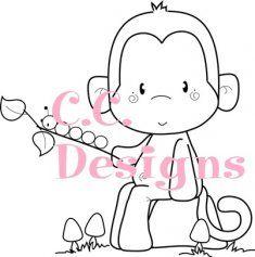 C.C. Designs Caterpillar Monkey DIGI Image