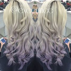 purple ombré pastel violet blond hair