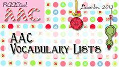 AAC Vocabulary Lists