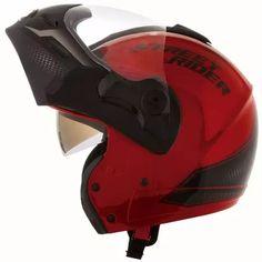 capacete mixs captiva articulado c/ viseira solar vermelho