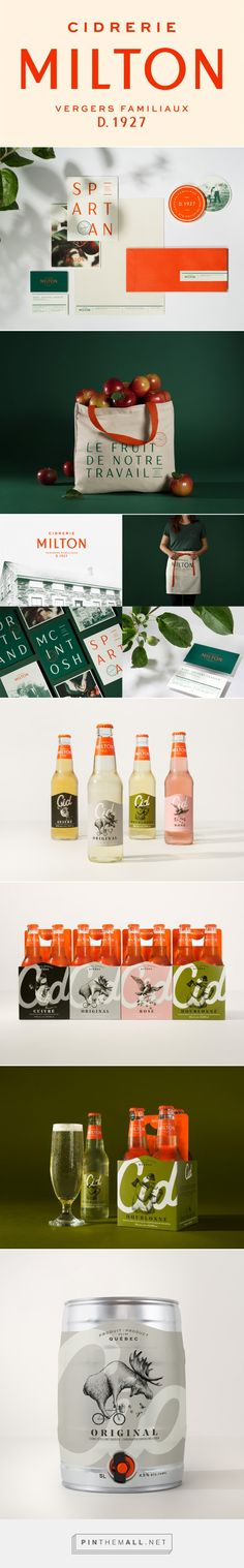 Brand New: New Logo, Identity, and Packaging for Cidrerie Milton by lg2 - created via https://pinthemall.net