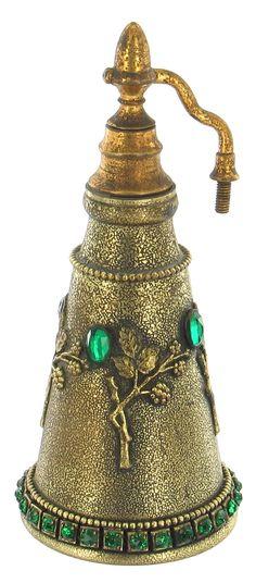 E&JB Empire Art Gold Perfume Bottle c1920s