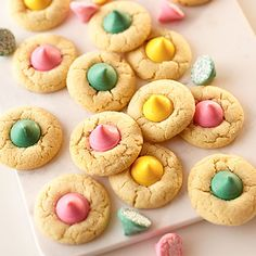 Add a touch of spring to your next Easter spread with a batch of pastel Mint Blossoms from Land O Lakes. Ingredients: 1 and 1/4 cups sugar 3/4 cup Land O Lakes® Butter, softened 1 Land O Lakes® Egg…