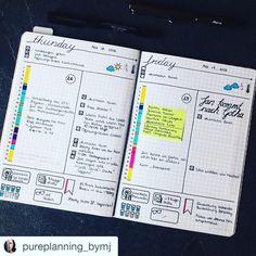 WATER I love love love @pureplanning_bymj. This #weeklyspread is simply beautiful. So neat with just a pop of color. #Repost @pureplanning_bymj with @repostapp. ・・・ Good morning Plannerfriends! Today I want to show you this day per page layout. On top are the top three for the day, on the left I track my time and appointments and on the right is a to do list. Below are some things I like to track and beside the flag is a little space for daily notes.  #bulletjournal  #bujo #planner...