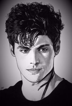 Drawn by Sarah T.   ...     alexander 'alec' lightwood, malec, the mortal instruments, shadowhunters