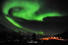 The northern lights were seen in northern Norway this week. (Image credit: Rune Stoltz/AP)