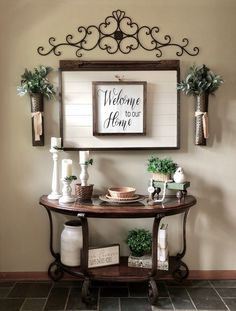 Are you searching for ideas for farmhouse decor? Browse around this site for perfect farmhouse decor pictures. This farmhouse decor ideas will look amazing. Country Decor, Rustic Decor, Farmhouse Decor, Farmhouse Style, Modern Farmhouse, Vintage Farmhouse, Farmhouse Entryway Table, Farmhouse Interior, Farmhouse Ideas