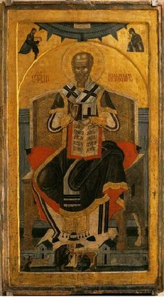 Икона Св. Николе Чудотворца, рад монаха Лонгина, Велика Хоча, 16. век.