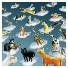 MGL Licensing is one of the world's leading art licensing agencies. We represent the work of over 70 artists and have a growing archive of images and branded graphic properties. Cat Background, Us Images, Catcher, Dog Cat, Clouds, Dogs, Artist, Gatos, Illustration Cat