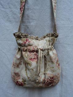 Cute!! Shabby Chic Bag Linen Purse by theruffleddaisy on Etsy, $44.00