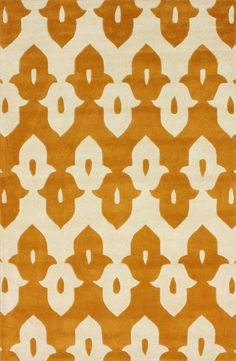 Palazzo 100% Wool Hand-Tufted Area Rug in Mustard design by NuLoom