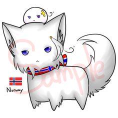 Neko and mochi - Norway by Saya-Alphaling.deviantart.com on @DeviantArt