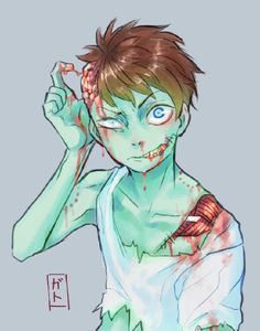 Bloody Zombie anime boy Guro                                                                                                                                                                                 More