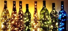 DIY Room Decorating Tips for Living Room: Beautiful Wine Bottle Light DIY Decorating Tips Upcycling