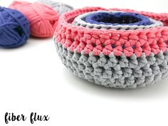 The Modern Nesting Baskets are fun, colorful, and super fun to make.  Clean lines and easy stitches are the perfect solution for ...