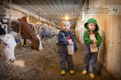 Wisconsin Dairy Farmer Family