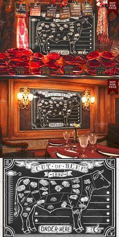 Vintage Blackboard for Butcher Shop #butchershop #butchery
