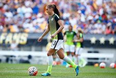 Alex Morgan before the game against Costa Rica, Pittsburgh, Aug. 16, 2015. (Jared Wickerham/Getty Images North America)