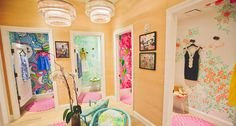 Dressing rooms at our Lilly Pulitzer Store at the Mall at Green Hills in Nashville.