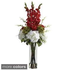 Giant Mixed Floral Arrangement/ Vase | Overstock.com Shopping - The Best Deals on Silk Plants