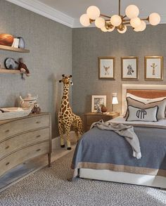 A sophisticated kids room is not an oxymoron! Textured walls playful accessories and pops of color make this room fun. Baby Bedroom, Home Bedroom, Kids Bedroom, Bedroom Decor, Bedrooms, Nursery Bedding, Bedding Sets, Wall Decor, Toddler Rooms