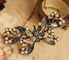 Super Cute.. Vintage Style Beaded Butterfly Necklace $9.99  http://www.facebook.com/MarisolBling