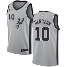 8f2bc5abdd3 Nike San Antonio Spurs  10 DeMar DeRozan Silver NBA Swingman Statement  Edition Jersey Antoine Winfield