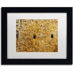 Trademark Fine Art Castillo de San Felipe del Morro 17 inch Canvas Art by CATeyes, White Matte, Black Frame, Size: 11 x 14, Yellow