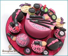 MAC Make Up Birthday Cake, by Scrumptious Buns x  All make up items are handmade and edible ;)