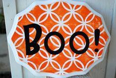 Boo Halloween Sign