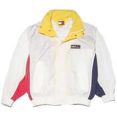 Tommy Hilfiger Sailor Jacket Medium Perennial Merchants ($98) ❤ liked on Polyvore featuring outerwear, jackets, sailor jacket, nylon jacket, white nylon jacket, nike jackets and white jacket