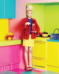 "LIMEROOM color & pattern   ""After the Party"" Vogue Girl Korea #color"