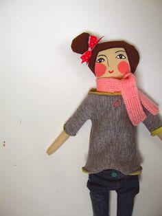 #handmade , #doll, design by agatownik
