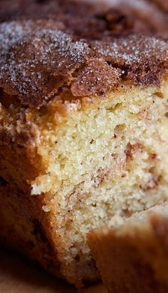 Amish Cinnamon Bread. This stuff is so moist and amazing! You can also use the same recipe to make muffins.