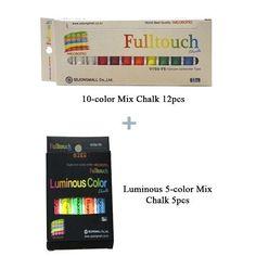 Hagoromo Fulltouch 10-color Mix Chalk 12pcs & Luminous (5 Colors mix) 5 pcs #SejongMall