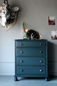 ..would love a console table or small dresser/cabinet painted this colour in our dining room!
