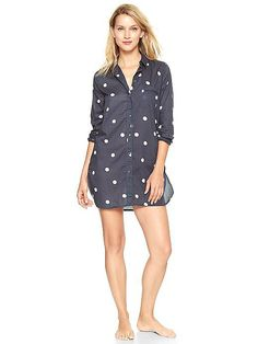 Order Gap's Printed Nightshirt ($40) one size up to ensure a loose and easy postbaby fit.