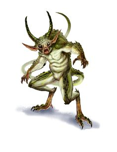 Demon, Quasit (from the fifth edition D&D Monster Manual). Art by Autumn Rain Turkel.